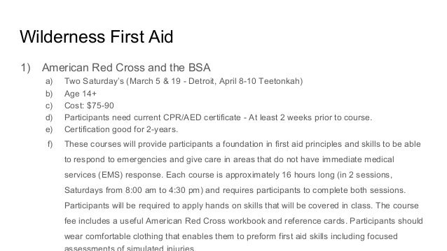 First Aid Roundtable Presentation