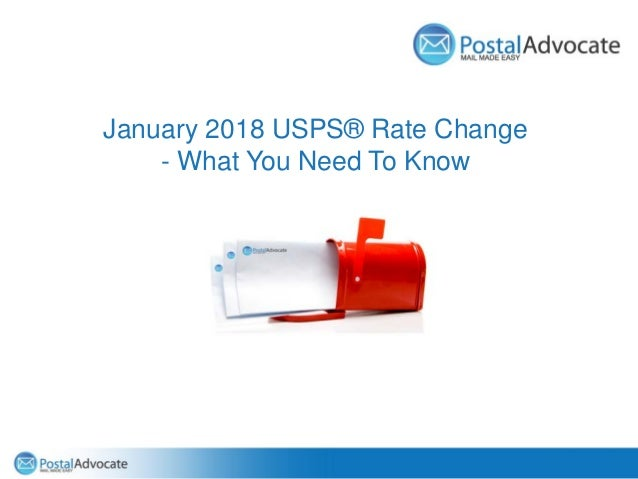 January 2018 USPS® Rate Change - What You Need To Know