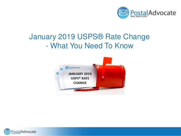 January 2019 USPS® Rate Change - What You Need To Know