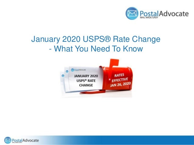 January 2020 USPS® Rate Change - What You Need To Know