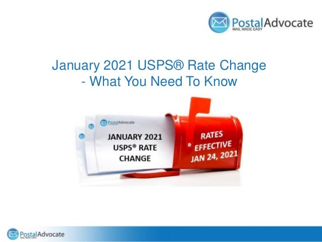 January 2021 USPS® Rate Change - What You Need To Know