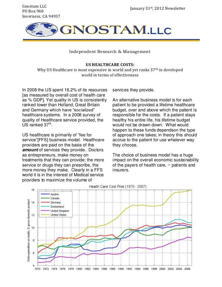 Gnostam LLC                                               January 31st, 2012 NewsletterPO Box 960Inverness, CA 94937      ...