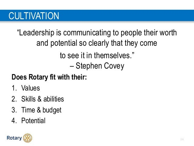 """2 6 CULTIVATION """"Leadership is communicating to people their worth and potential so clearly that they come to see it in th..."""