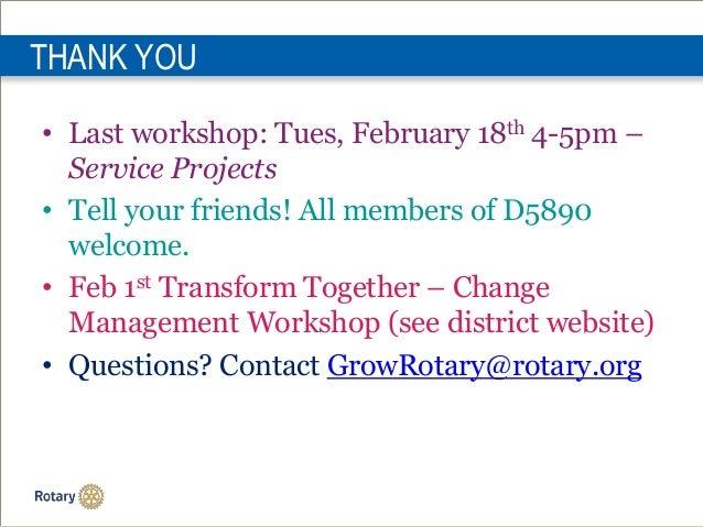January Managing Membership Leads slideshare