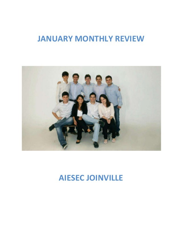 JANUARY MONTHLY REVIEW    AIESEC JOINVILLE