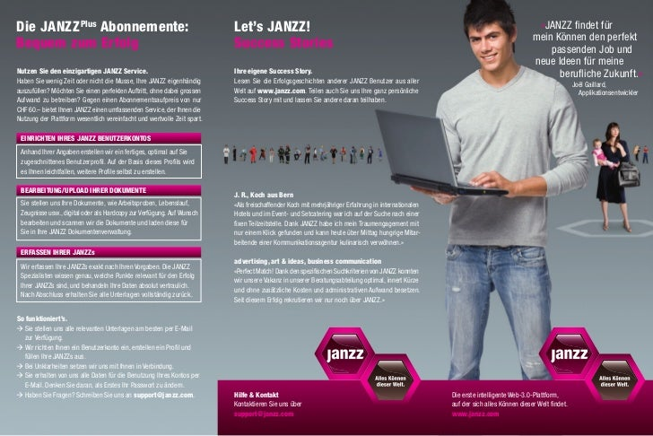 Die JANZZ Plus Abonnemente:                                              Let's JANZZ!                                     ...