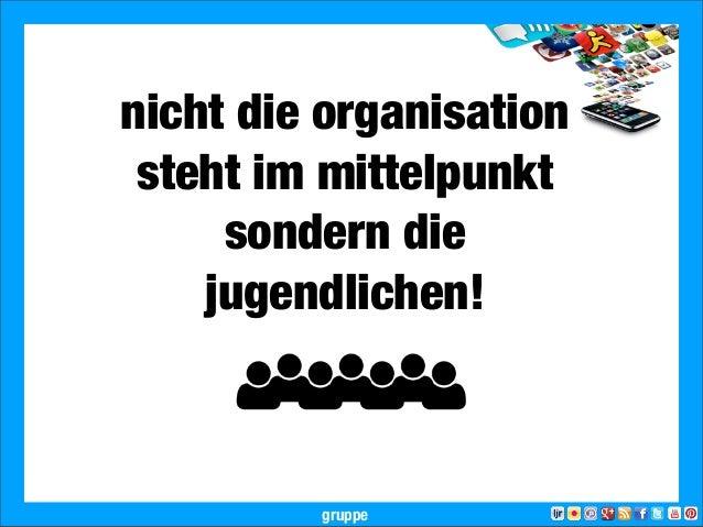 2013 Landesjugendring Niedersachsen e.V.nicht die organisationsteht im mittelpunktsondern diejugendlichen!gruppe