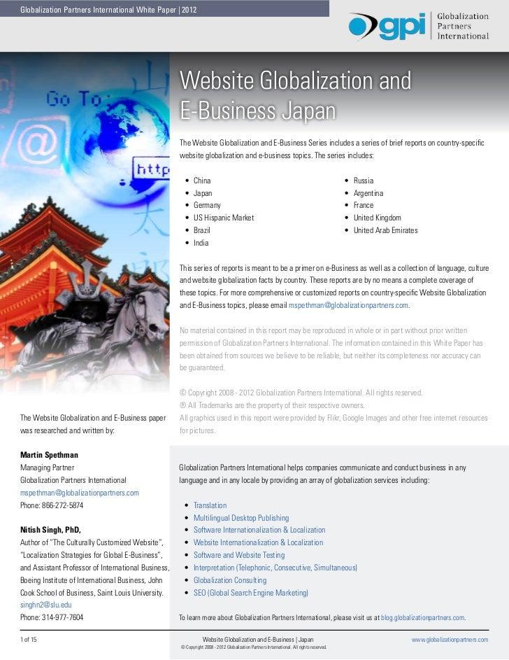 Globalization Partners International White Paper | 2012                                                     Website Global...