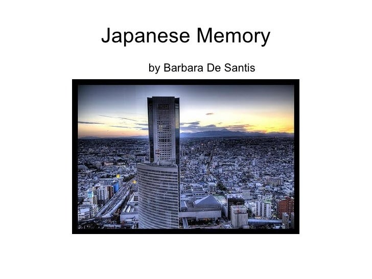 Japanese Memory by Barbara De Santis