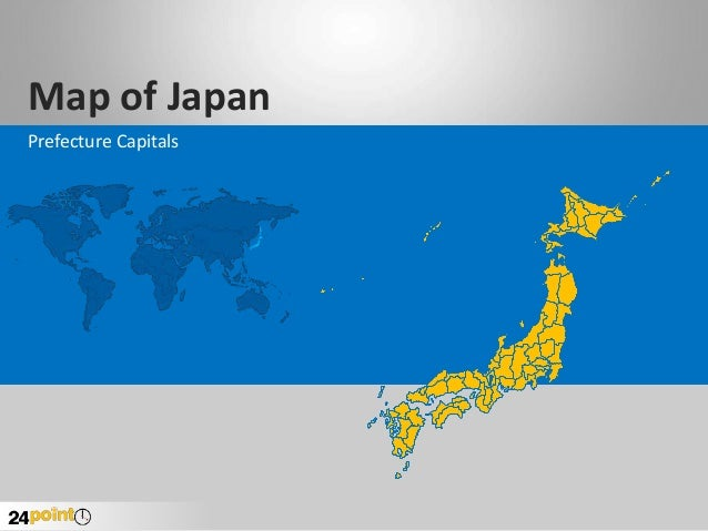 Map of Japan Prefecture Capitals