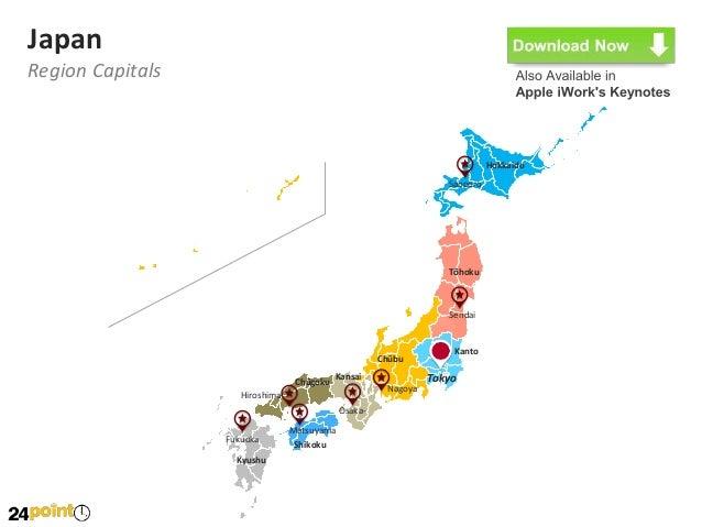 Japan Map Fully Editable Powerpoint