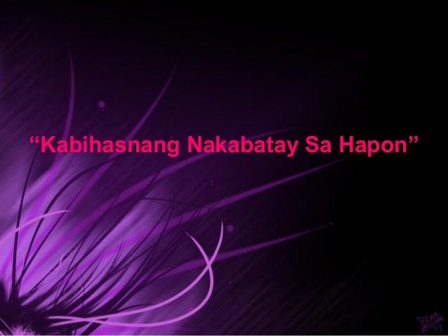 """""""Kabihasnang Nakabatay Sa Hapon"""""""