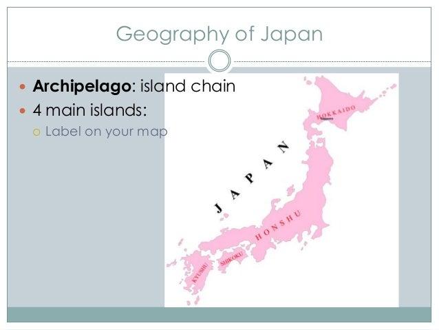 Ancient To Feudual Japan - Japan map 4 main islands