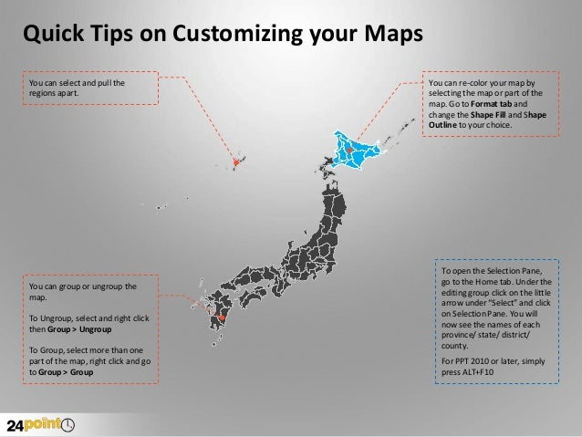 PowerPoint Map of Japan