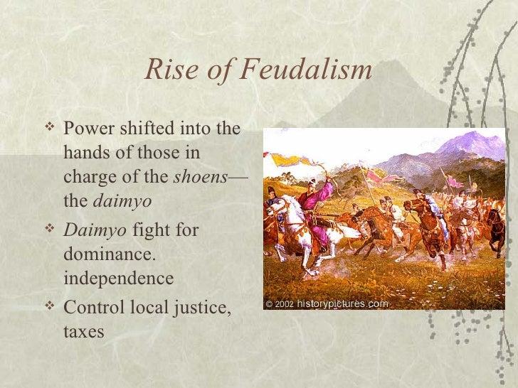 <ul><li>Power shifted into the hands of those in charge of the  shoens —the  daimyo </li></ul><ul><li>Daimyo  fight for do...