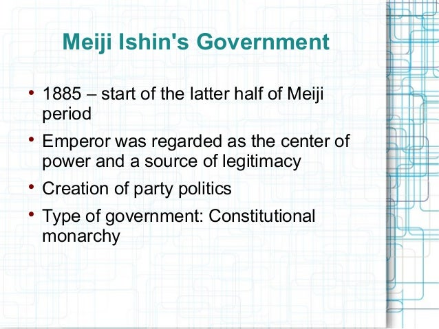 Japan -form of government