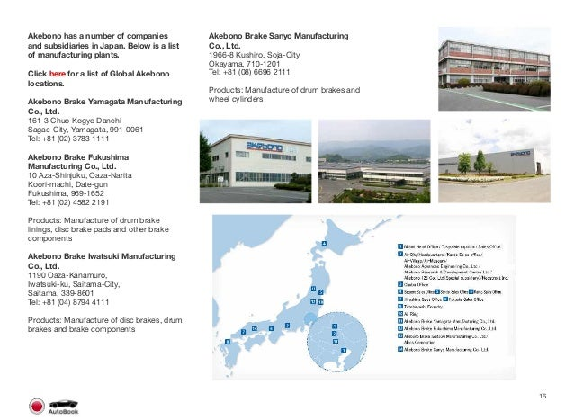 Section 2 Other Japanese Tier 1 Companies Page 17 The full version of the Japan AutoBook includes profiles of the following...