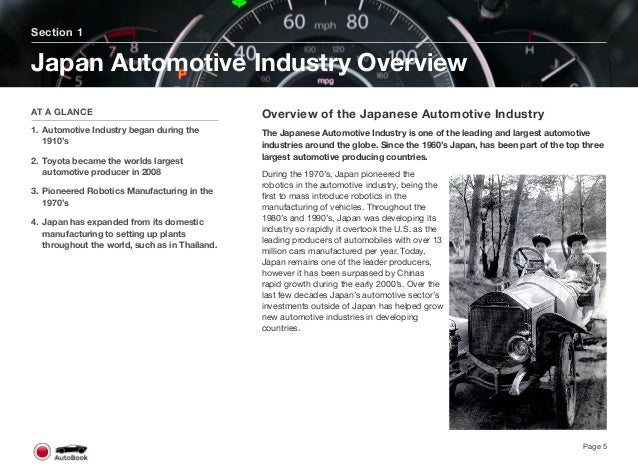 Japan first began manufacturing automobiles in the middle to late 1910's by either designing their own vehicles or partneri...