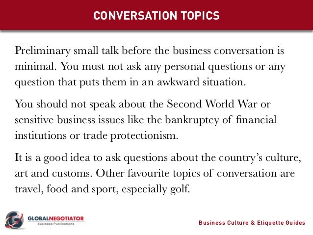 good business topics to talk about