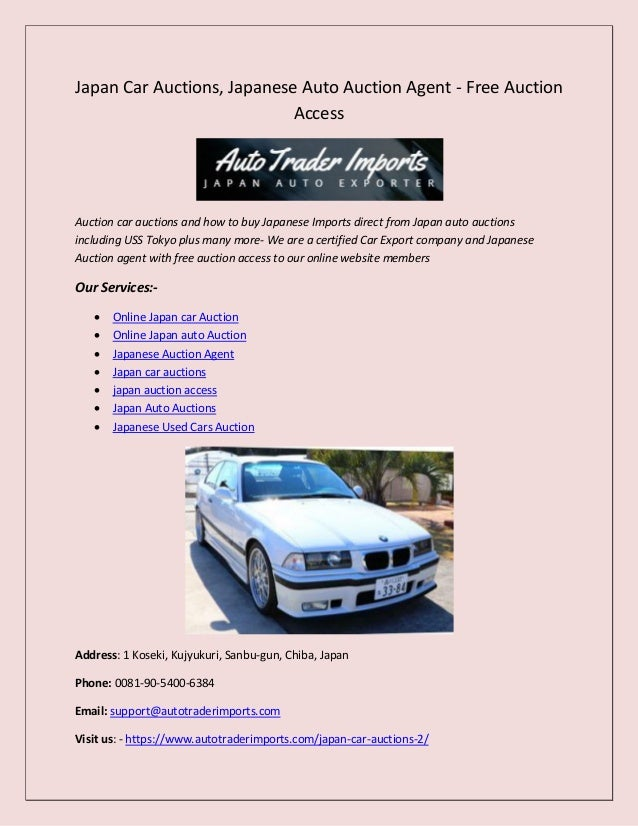 How To Buy Cars At Auction >> Japan Car Auctions Japanese Auto Auction Agent Free Auction