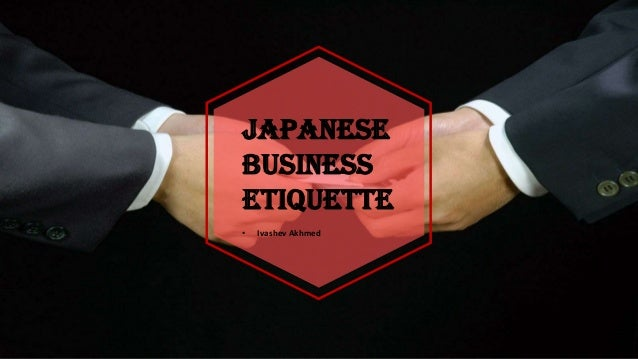 Japanese etiqutte in workplace or business