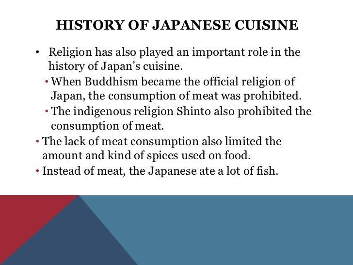 Japanese cuisine for Cuisine history