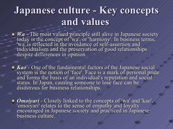 japanese culture 2 essay A report on japanese culture folkways: while most countries have business cards, japan has taken it to a higher level for in japan everyone has at least one known.