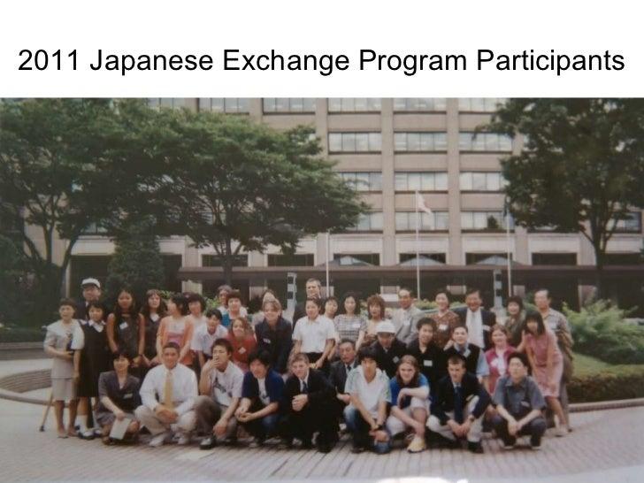 2011 Japanese Exchange Program Participants