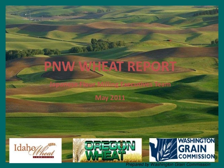 PNW WHEAT REPORT<br />Japanese Flour Milling Executives Team<br />May 2011<br />Prepared by Washington Grain Commission<br />
