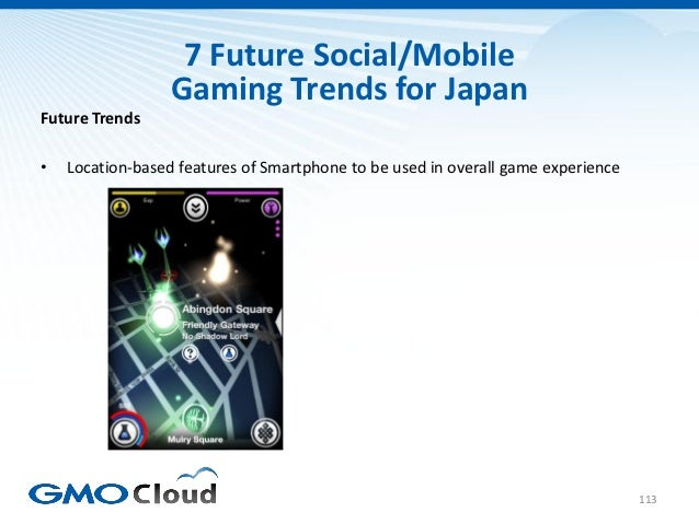 7 Future Social/Mobile                  Gaming Trends for JapanFuture Trends•   Location-based features of Smartphone to b...