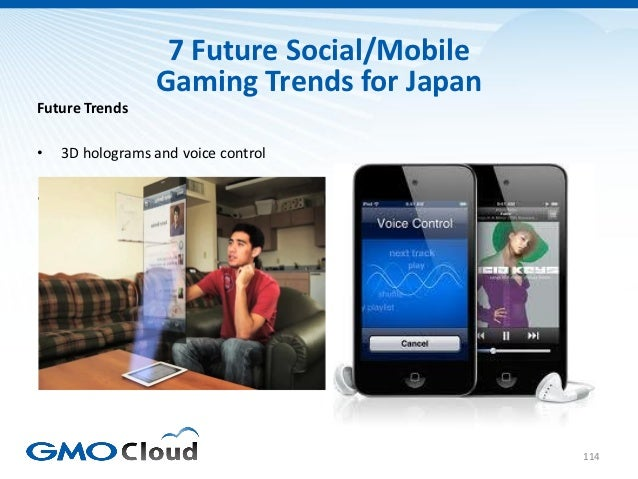 7 Future Social/Mobile                  Gaming Trends for JapanFuture Trends•   3D holograms and voice control•   Inbuilt ...