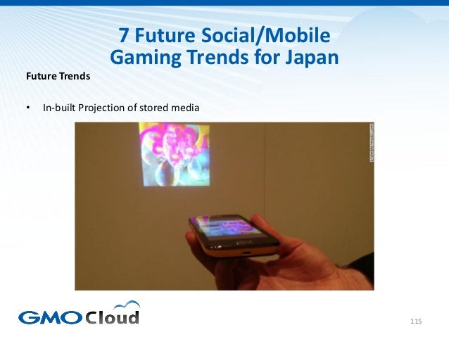 7 Future Social/Mobile                  Gaming Trends for JapanFuture Trends•   In-built Projection of stored media       ...