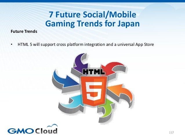 7 Future Social/Mobile                  Gaming Trends for JapanFuture Trends•   HTML 5 will support cross platform integra...