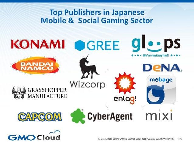 Top Publishers in JapaneseMobile & Social Gaming Sector              Source: MOBILE SOCIAL GAMING MARKET GUIDE 2011 Publis...