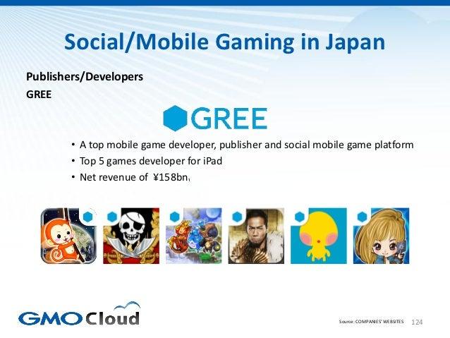 Social/Mobile Gaming in JapanPublishers/DevelopersGREE        • A top mobile game developer, publisher and social mobile g...