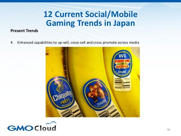 12 Current Social/Mobile                    Gaming Trends in JapanPresent Trends4. Enhanced capabilities to up-sell, cross...