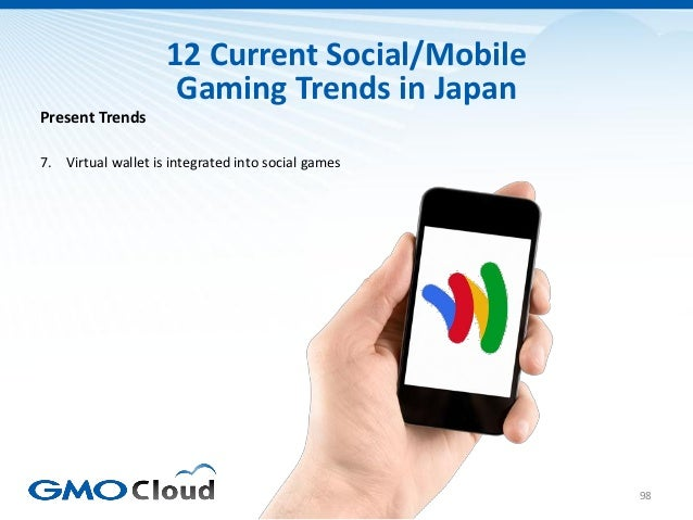 12 Current Social/Mobile                     Gaming Trends in JapanPresent Trends7. Virtual wallet is integrated into soci...