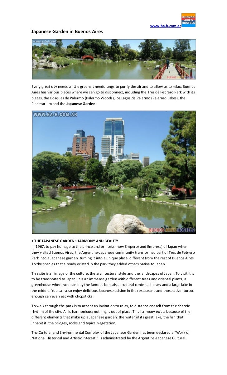 www.ba-h.com.arJapanese Garden in Buenos AiresEvery great city needs a little green; it needs lungs to purify the air and ...
