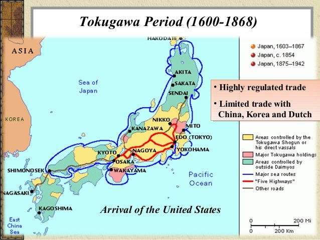 Map Of Japan 1600.The Rise Of Japan
