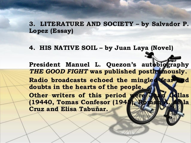 "his native soil by juan laya essays Consciousness & he expressed his views in ""literature award for the novel in 1940 was juan c laya and his prize winning novel was ""his native soil."