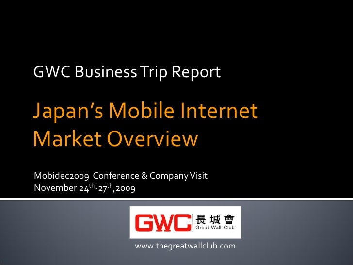 Japan mobile internet market overview