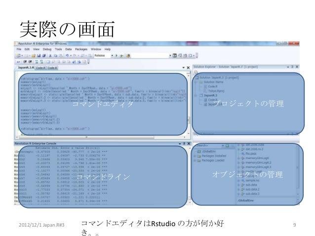 実際の画面                      コマンドエディタ              プロジェクトの管理                      コマンドライン               オブジェクトの管理2012/12/1 J...