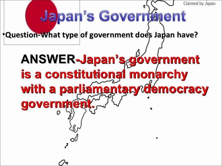 Japan's government and economy