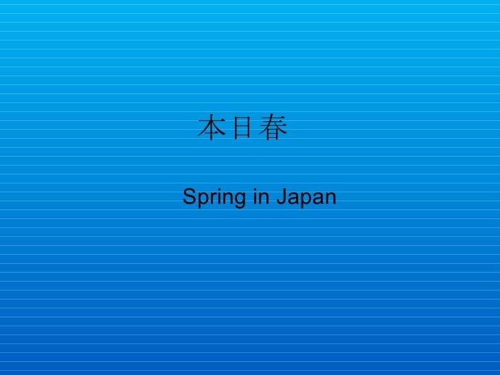 本日春  Spring in Japan
