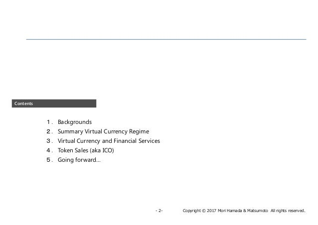 Japan's virtual currency regulation and its recent developments Slide 3
