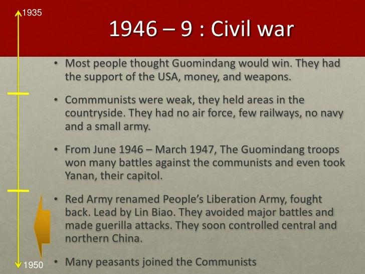 Japan-China War and The Civil War Timeline