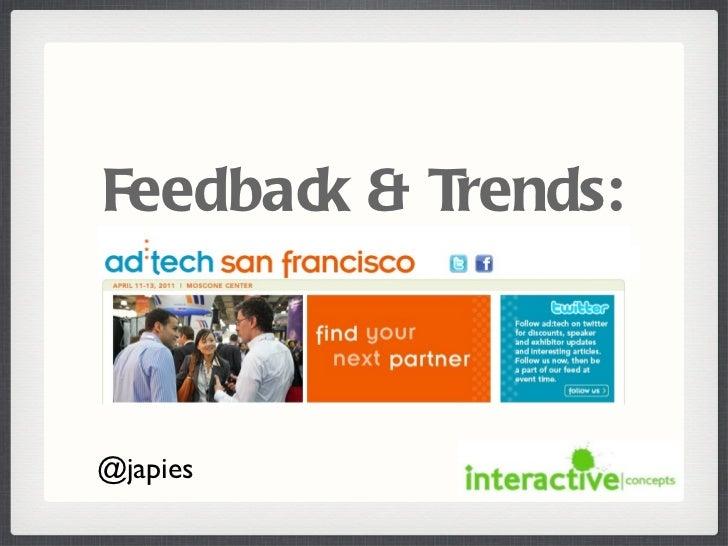 Feedback & Trends: @japies