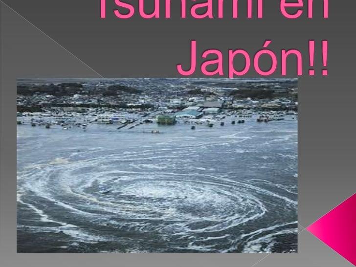 Tsunami en Japón!!<br />