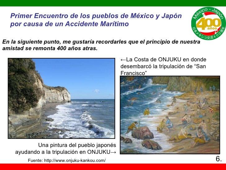 Una pintura del pueblo japonés ayudando a la tri pulación en ONJUKU -> ← La Costa de ONJUKU en donde desembarcó la tripula...