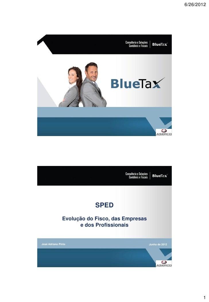 6/26/2012                           SPED               Evolução do Fisco, das Empresas                     e dos Profissio...